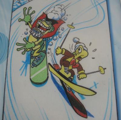 Skier vs Snowboarder