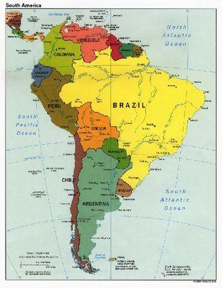 Map - South America