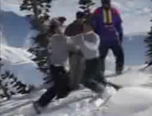 Skier vs Snowboarder Fight1