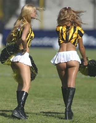 Hot cheerleaders in thongs